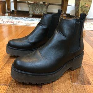 H&M Platform Black Booties